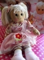 Powell Craft Stoffpuppe Valentine Rag Doll Puppe
