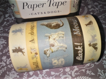 Cavallini Tape Cats & Dogs
