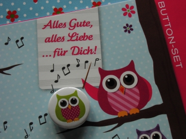 ♥ Button SET OWLS