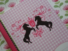 ♥ A6 NOTIZBUCH Little Horses