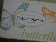 Cavallini Rubber Stamps Stempel Vintage Butterfly