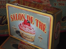 ♥ SALON DE THE Teedose für Teebeutel LADY CUPCAKE
