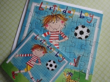"♥ PUZZLE-KARTE ""Birthday Boy"""