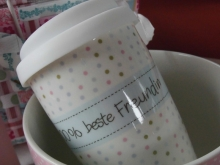 ♥ COFFEE TO GO - Becher 100% beste Freundin