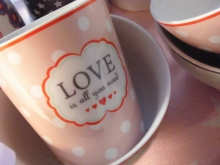 Krasilnikoff Happy Mug Becher Love is all you need Tasse