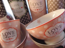 "♥ HAPPY BOWL ""Love is all you need"" Müslischale"
