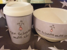 "Mea Living COFFEE TO GO "" nen Scheiss muss ich"""