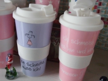 ♥ PP-COFFEE TO GO-Becher verschiedene Designs♥
