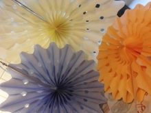 Talking Tables  Paper Fan Set Oasis Seidenpapierfächer Partydeko
