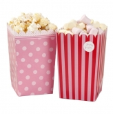 "♥ 8 Popcorn Tüten Treat Holders ""Pink`n Mix"""