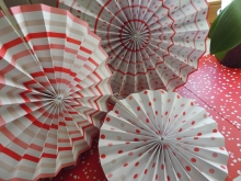 Talking Tables  Paper Fan Set PinWheel Pink´n Mix Seidenpapierfächer