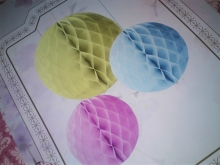 Talking Tables Wabenball Set Honeycomb Pastel Partydeko