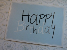 Mea-Living Postkarte HAPPY BIRTHDAY in blau