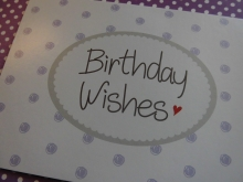 ♥ POSTKARTE -  Birthday Wishes♥