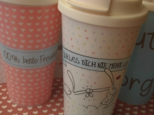 PP-COFFEE TO GO-Becher LASS DICH NIE MEHR LOS♥