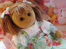Powell Craft Stoffpuppe Zoe Rag Doll Puppe
