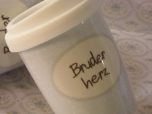 ♥ COFFEE TO GO - Becher Bruderherz Mea-Living
