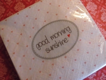 Mea-Living Servietten Good morning Sunshine  20er Set