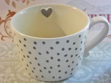 Bastion Collections Tasse Little Dots Grau