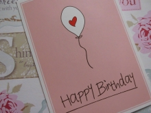 Mea Living Postkarte - Happy Birthday -Ballon