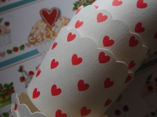 ♥24 Muffinförmchen S RED HEARTS