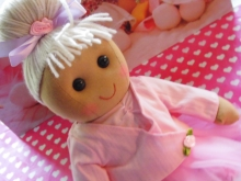 Powell Craft Stoffpuppe BALLERINA Rag Doll Puppe