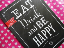 ★A4 EAT DRINK & BE HAPPY ★PRINT