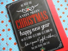 ♥ Christmas Wishes CHALKBOARD